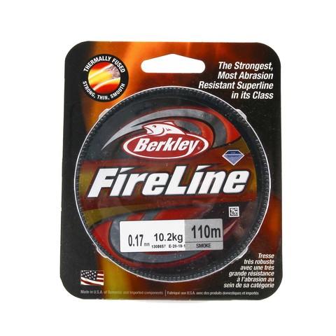 Плетеная леска Berkley Fireline 110M Темносерая 0,17mm Smoke