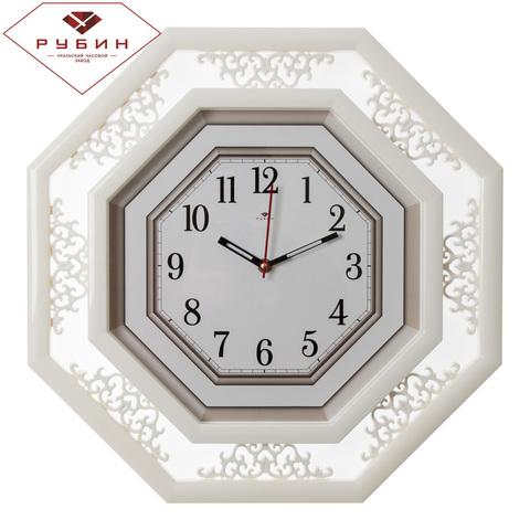 5045-101 (5) Часы настенные восьмиугольные 45х45см, корпус белый