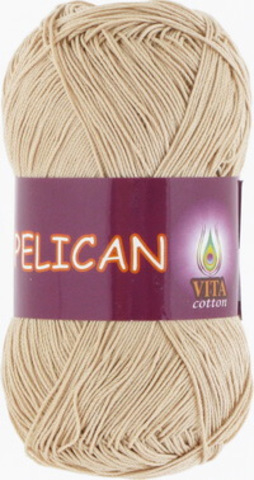Пряжа Pelican (Vita cotton) 3976 Светло-бежевый