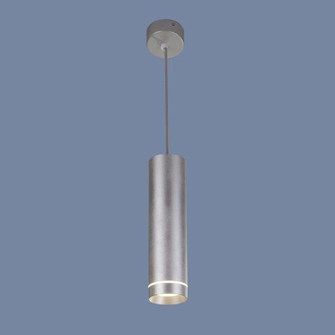 Подвесной светодиодный светильник DLR023 12W 4200K хром матовый