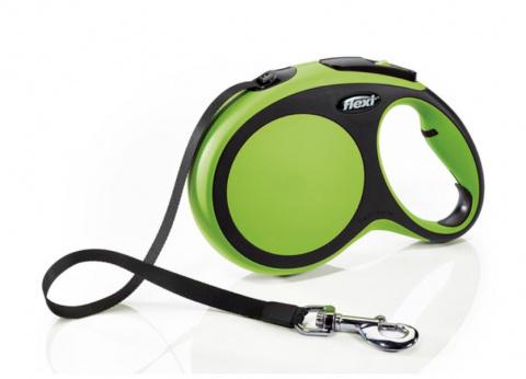 Flexi поводок-рулетка L, ремень 8 м, на 50 кг (зеленый)