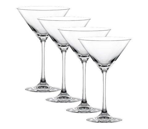 Vivendi - Набор фужеров из 4 штук для мартини, 17,4 см