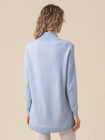 Женский свитер голубого цвета из кашемира и вискозы - фото 4