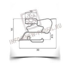 Уплотнитель 83*57см для холодильника Индезит C132NFG (холодильная  камера) Профиль 022