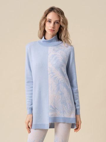 Женский свитер голубого цвета из кашемира и вискозы - фото 2