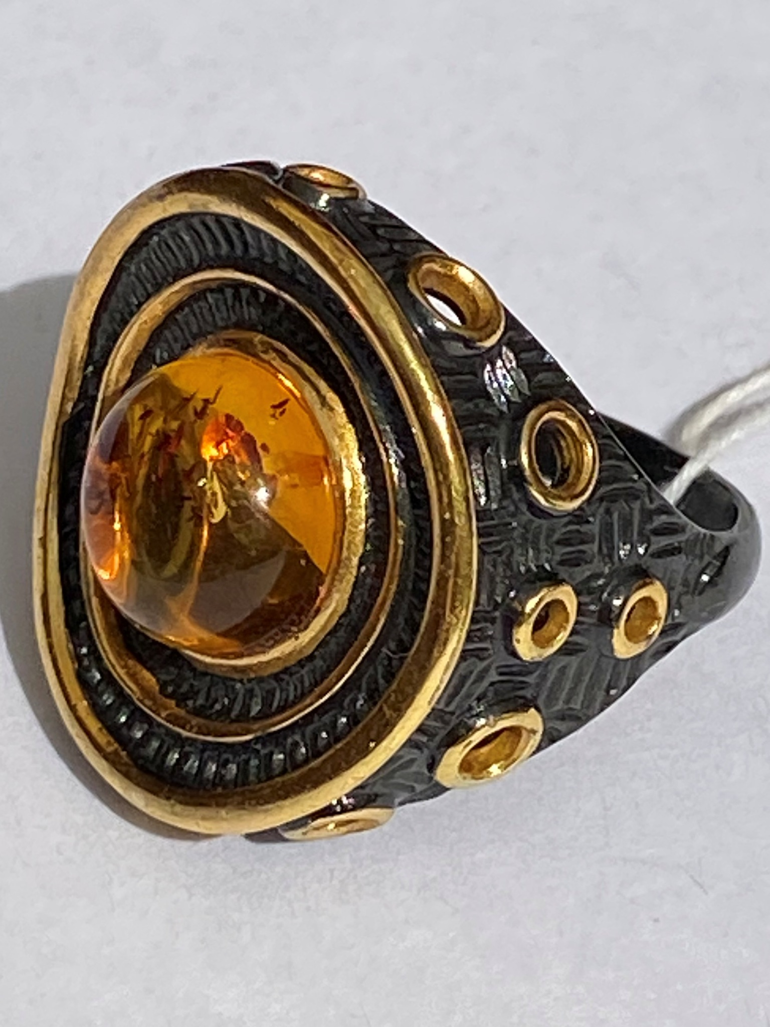 Бавро-черный(кольцо из серебра)
