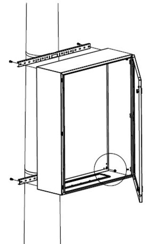 Комплект крепления шкафов CE/RAM box к столбу (ширина шкафа- 400 мм)