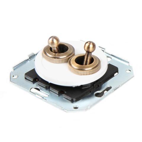 Выключатель тумблерныйный четырёх позиционный для внутреннего монтажа проходной. Цвет Белый. Salvador. CL51WT