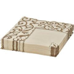 Салфетки бумажные Bibo Gold 33x33 см бежевые 1-слойные 20 штук в упаковке