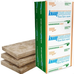 Акустическая перегородка плита Кнауф Insulation 1250х610х50мм (12,2м2=0,610м3) (уп.16шт) (456384)
