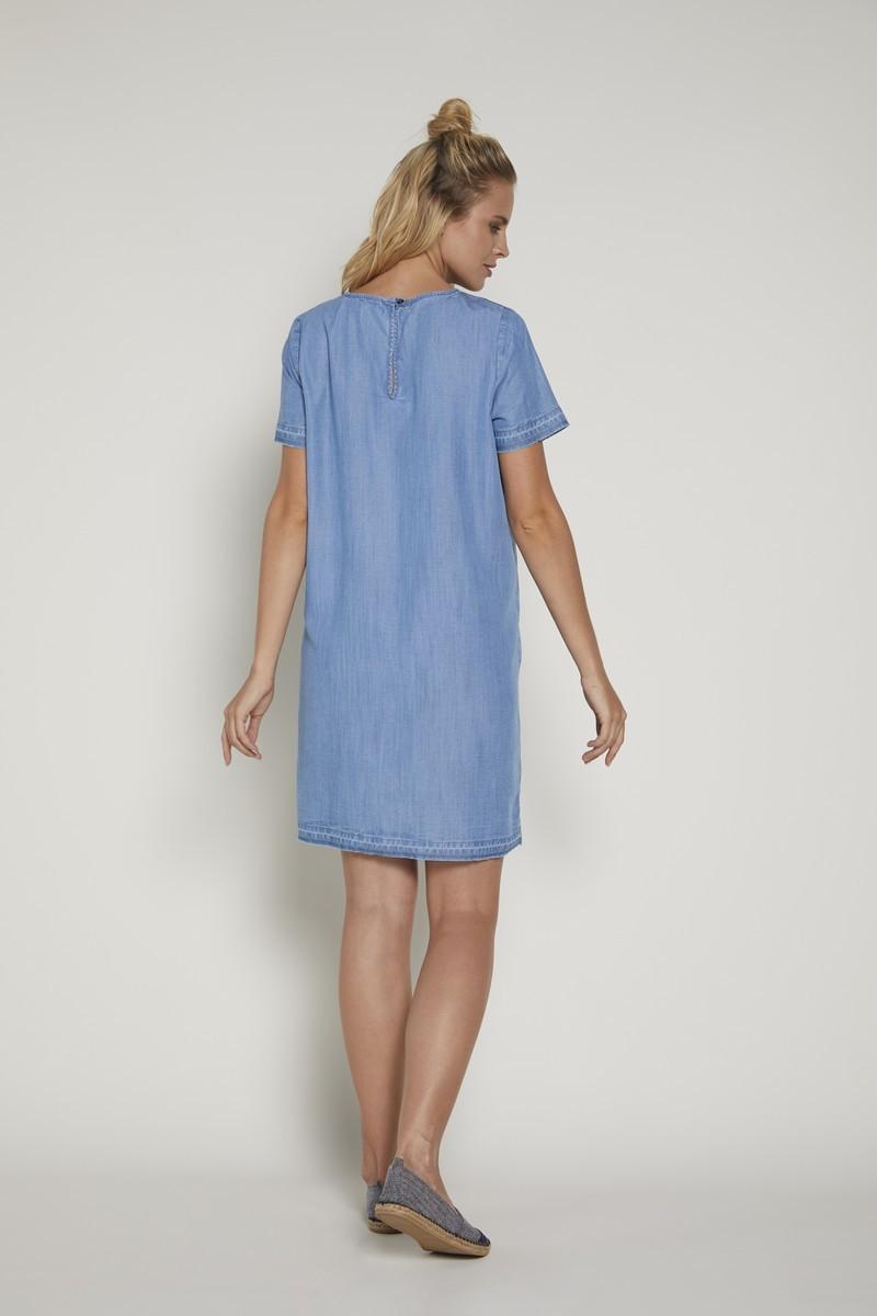 Фото платье для беременных GEBE, прямое от магазина СкороМама, голубой, размеры.
