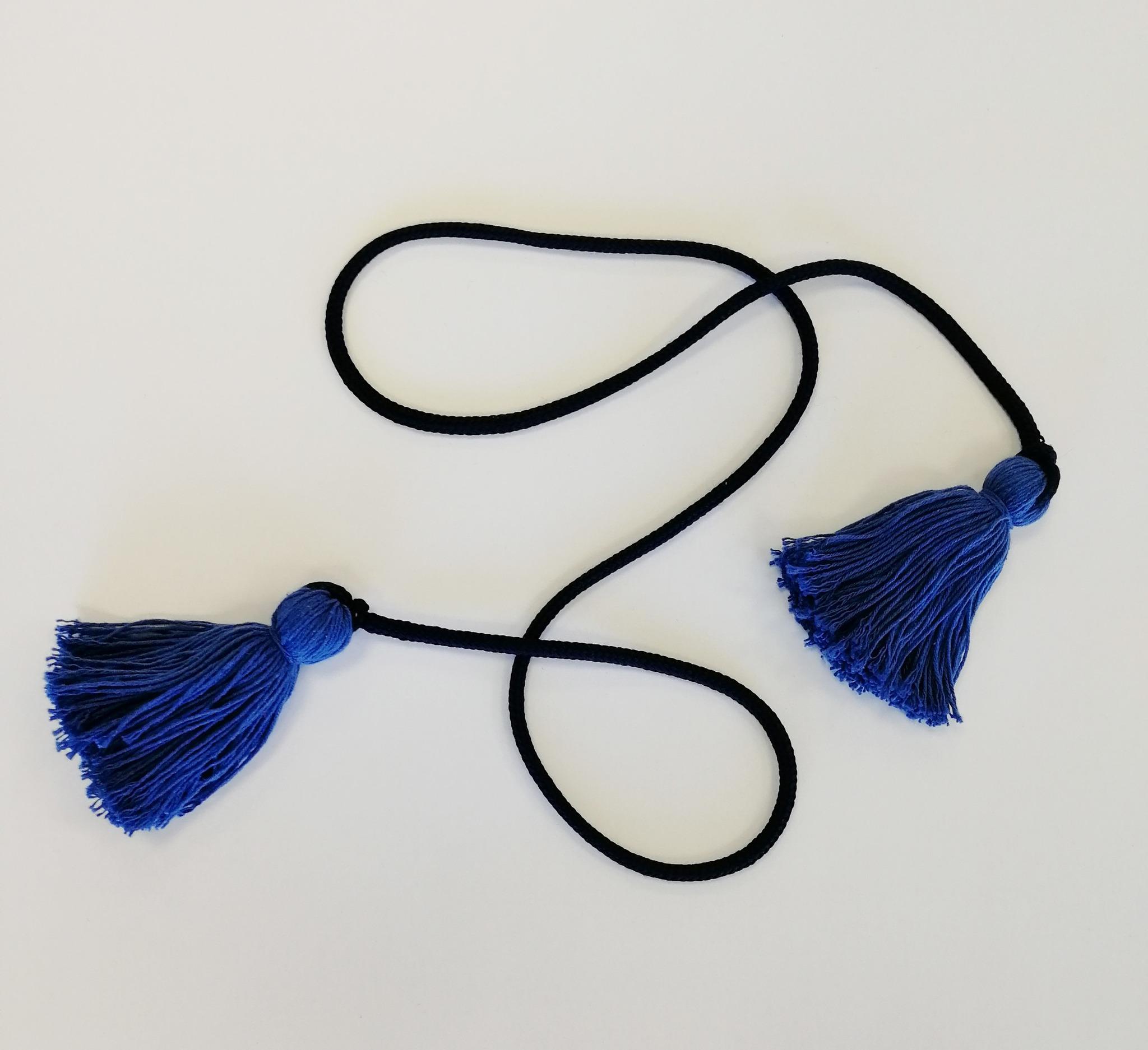 Пояс шнур с кисточками сверху