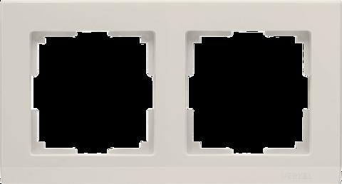 Рамка на 2 поста (слоновая кость) WL04-Frame-02-ivory