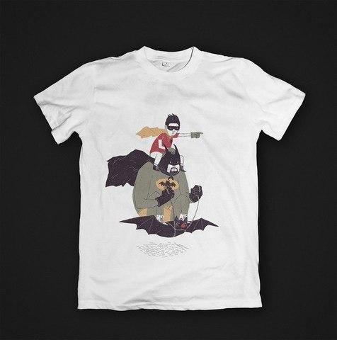 Футболка Batman & Robin - M. Женская