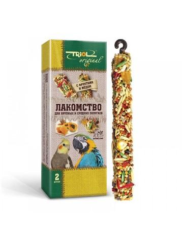 Triol Original лакомство для волнистых попугаев с фруктами и медом (уп - 2шт) 55г