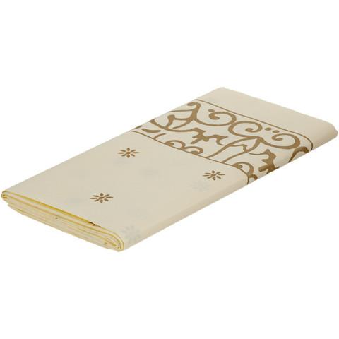 Скатерть одноразовая Bibo Gold бумага 120x180 см бежевая