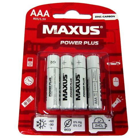 Батарейки Maxus R03, AAA (4/48) BL