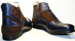 Мужские зимние ботинки на натуральном меху классические Luciano Bellini