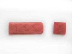 Застежка с крючками темно-оранжевая 1 ряд