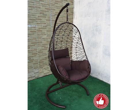 Подвесное кресло Изи усиленное коричневое