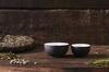Пиала из темной глины с глазурью 40 мл