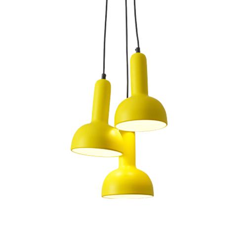Подвесной светильник копия TORCH S2 by Sylvain Willenz (желтый, 3 плафона)