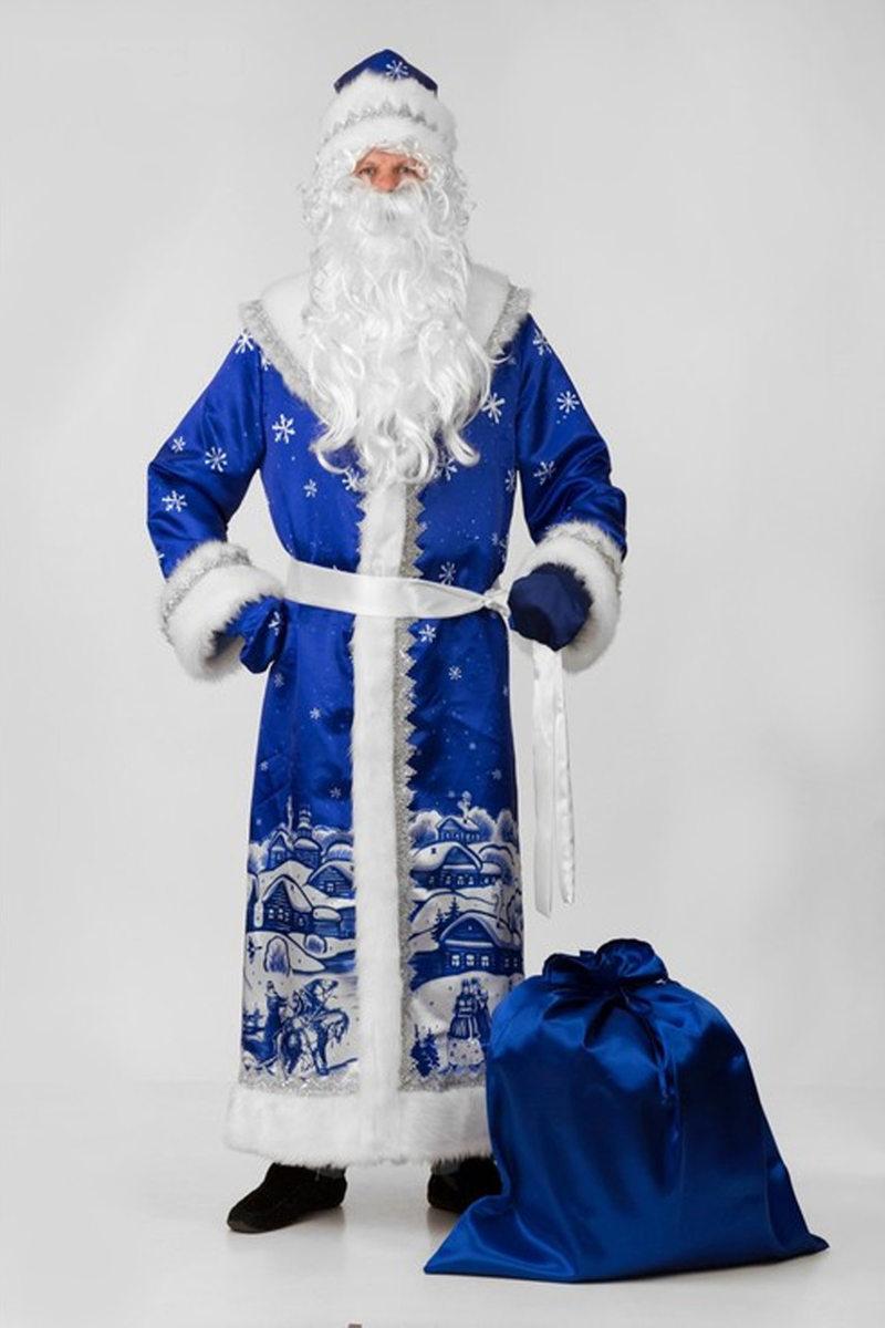 Дед Мороз сатин принт