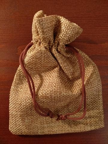 Подарочный мешочек для скребков гуаша