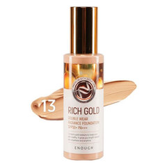Enough Rich Gold Double Wear Radiance Foundation - Крем тональный с золотом 100 мл.