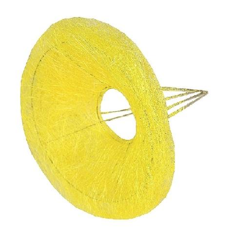 Каркас для букета гладкий (сизаль, диаметр: 30 см) Цвет: желтый