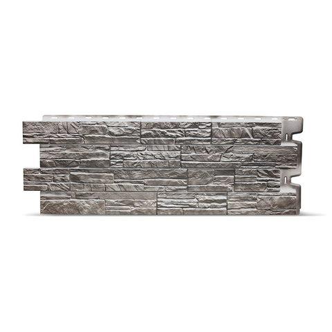 Фасадная панель Деке Камень 1098х400 мм Базальт