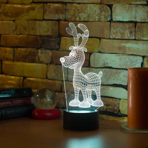 3D лампа Олененок