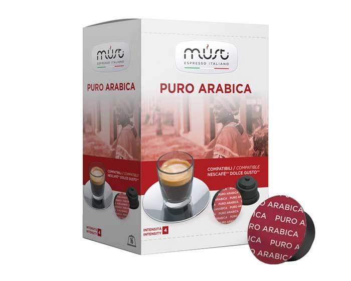 Кофе в капсулах Must Puro Arabica, 16 капсул для кофемашин Dolce Gusto