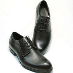 Модные черные туфли на шнуровке Ikoc 060-1 ClassicBlack.