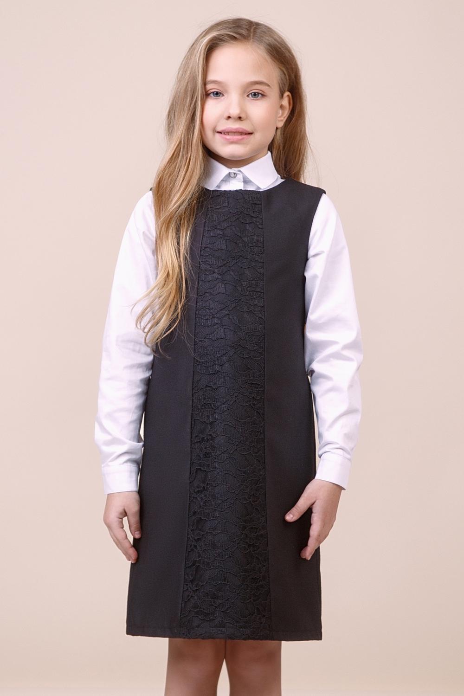 Сарафан черный для девочки 40-9005-1