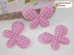 Мягкий декор Бабочки текстильные розовые