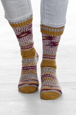 Носочная пряжа Gruendl Hot Socks Simila 405 купить