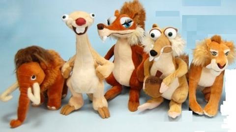 Набор игрушек Ледниковый период 5 шт 25 см