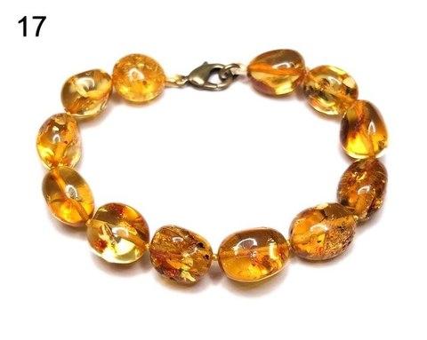 браслет из янтаря орешки золотистые