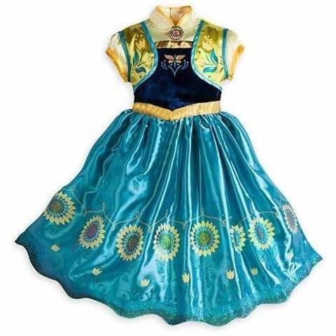 Холодное сердце платье Анны бирюзовое