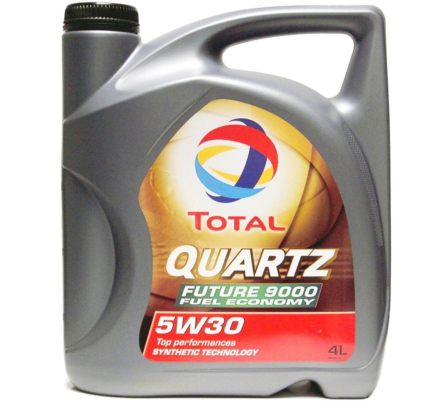 Total 9000 Quartz Future NFC 5W-30 - Синтетическое моторное масло (4л)