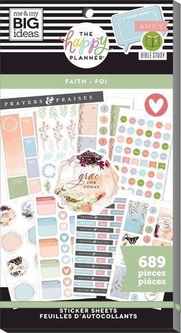 Блокнот со стикерами для ежедневника -Value Pack Stickers - Faith Be Still, 689 шт