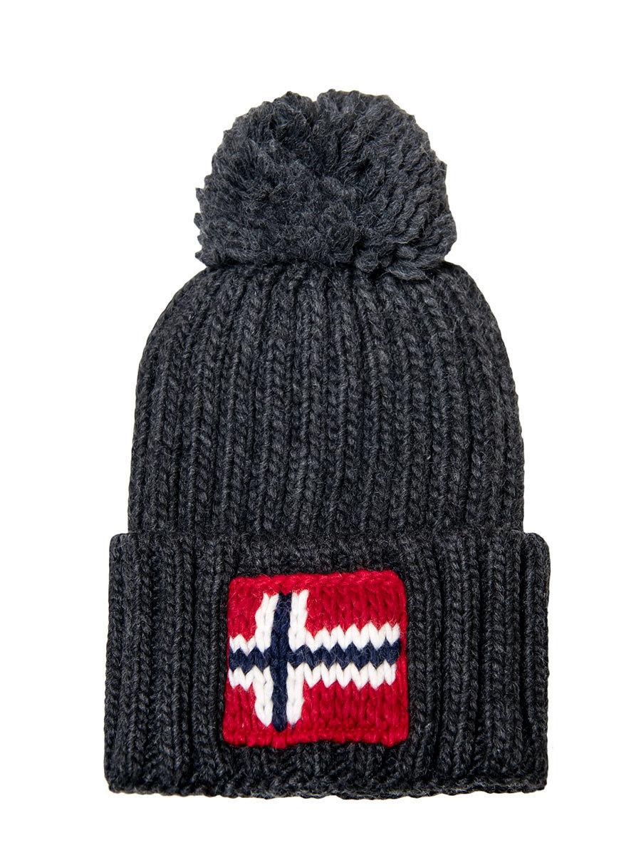 Napapijri шапка Semiury 3 темно-серый меланж - Фото 1