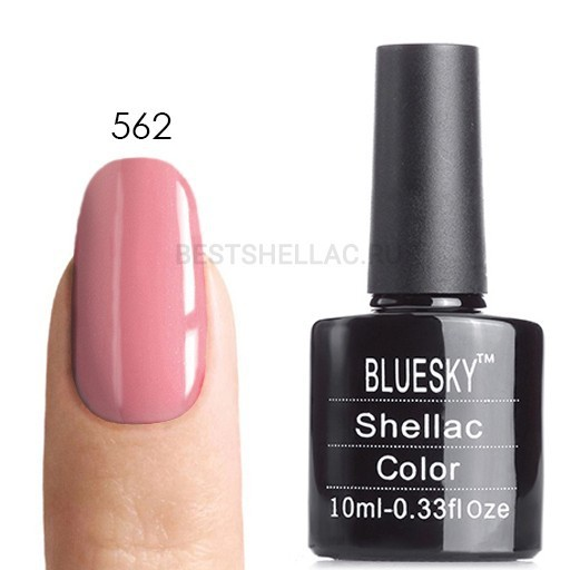 Bluesky Shellac 40501/80501 Гель-лак Bluesky № 40562/80562 Blush Teddy, 10 мл 562.jpg