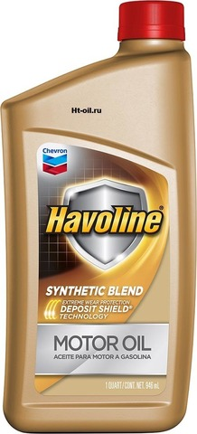 HAVOLINE SYNTHETIC BLEND 5W-30 моторное масло для бензиновых двигателей Chevron (1 литр)