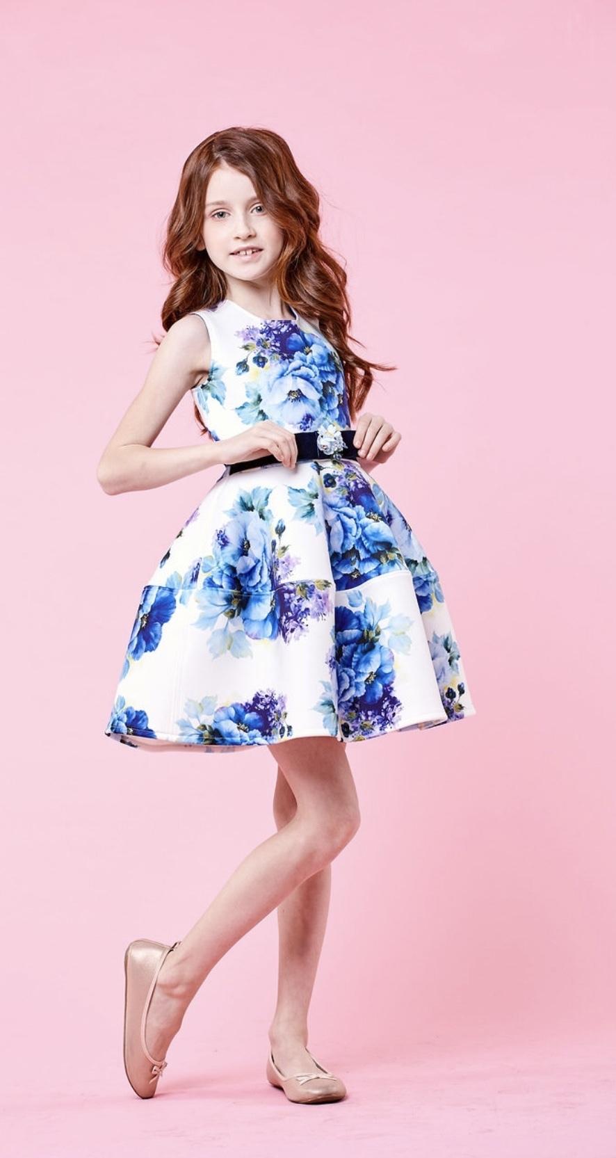 Платье Blue flowers New 1301-68