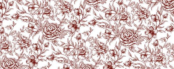 Водорастворимая бумага Модульный цветочный орнамент 1