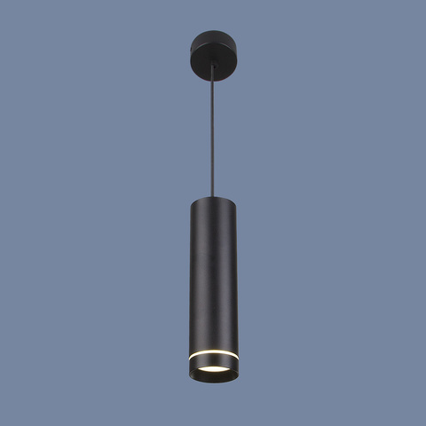 Подвесной светодиодный светильник DLR023 12W 4200K черный матовый