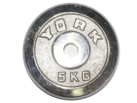 Диск для штанги хромированный. D-26 мм. Вес 5 кг :(DY-5):