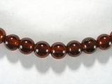 Бусина из граната оранжевого, шар гладкий 5 мм